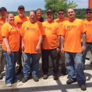 TMMK M&E team restored and installed a driveway for a Habitat for Humanity client