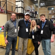 Mike Sausman (Business Development), John Dougall (Safety), Wendy Vasser (Administration) and Sean Dixon (Purchasing) volunteering at Grace Works in Tennessee.