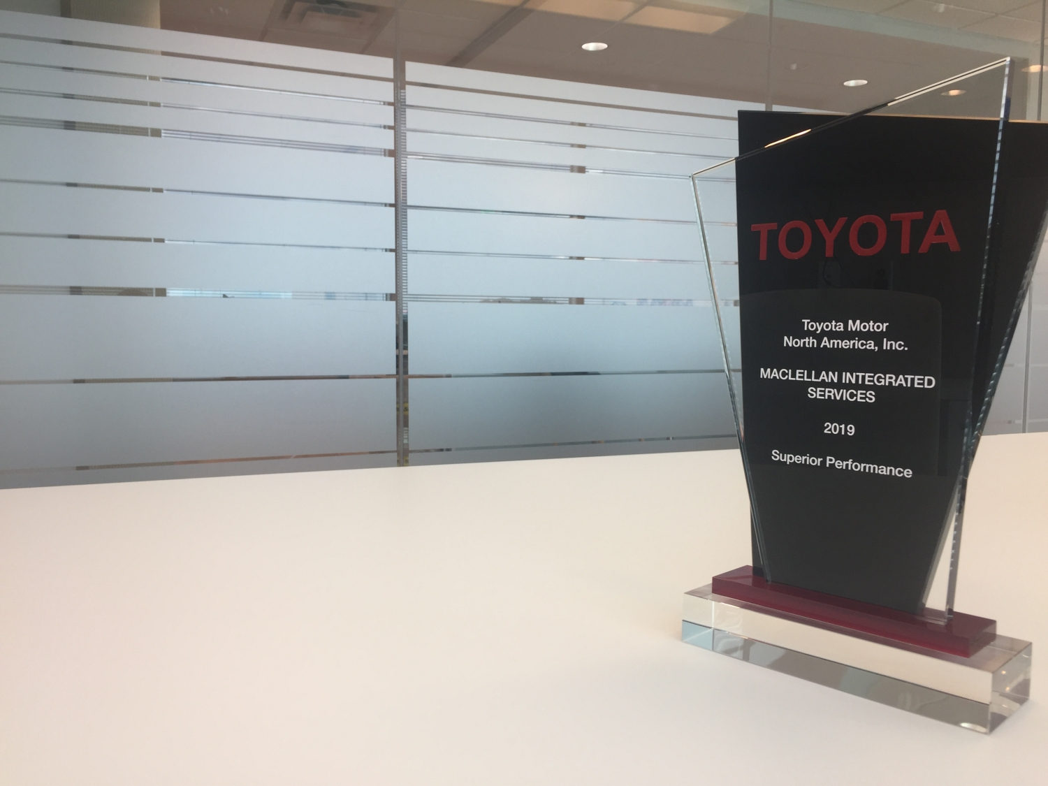 Toyota Superior Supplier Award